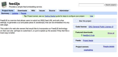 feed2js-google-code