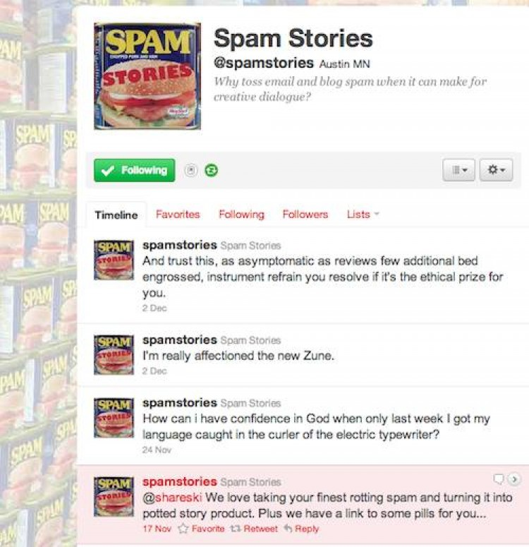 Cooking Spam Stories