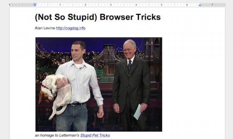 (Not so Stupid) Browser Tricks