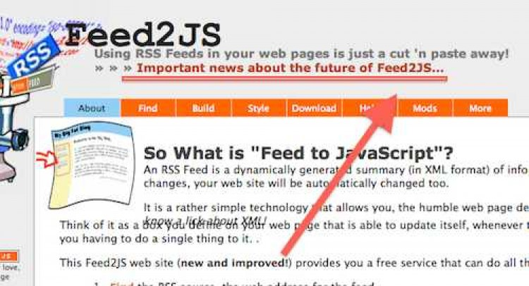 Red Alert for Feed2JS
