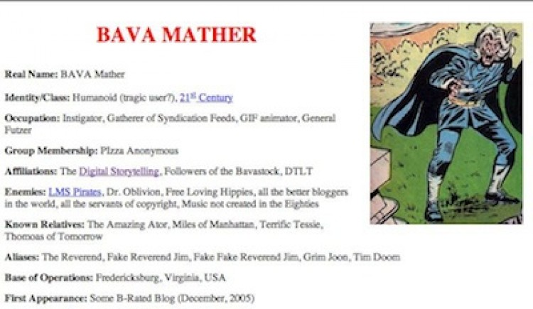 ds106 Super Heroes: Bava Mathers