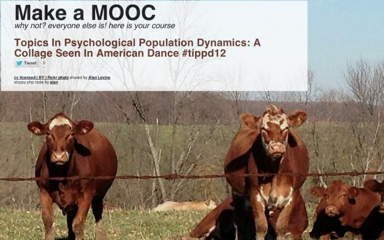Make a MOOC: Shaken or Stirred