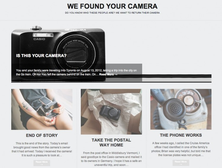 Case Closed- Found Camera Returns Home