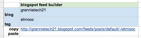 blogspot feed builder