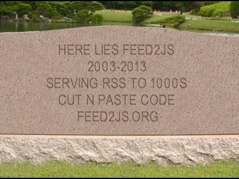 Here Lies Feed2JS