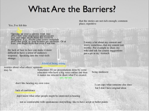 Barriers to Sharing (click for full size)