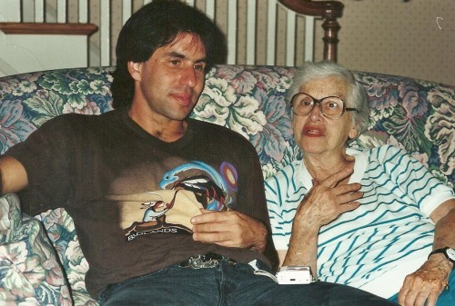 Recording Grandma's stories, July 1994