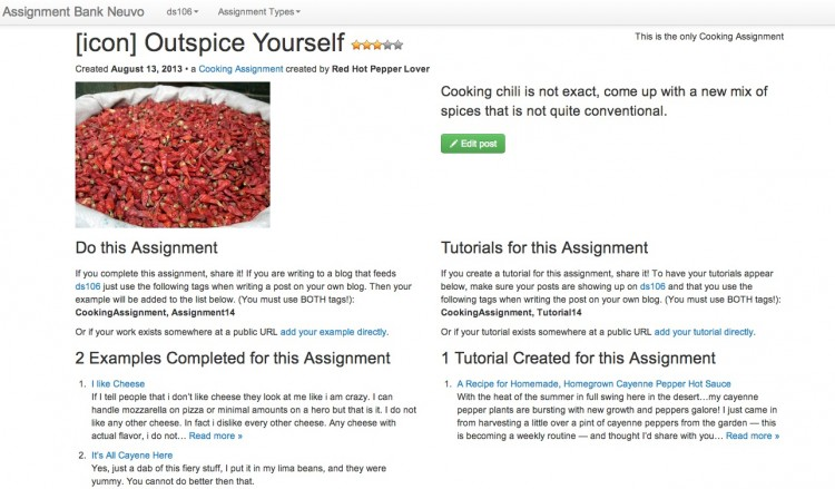 ds106 Bank Nuevo: Assignments Now Fully Functional