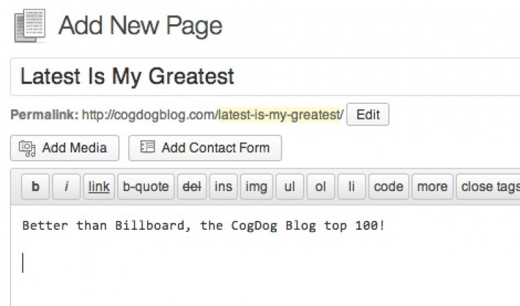 Creating a Page for Last 100 Posts in your WordPress Site
