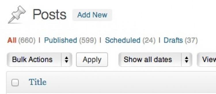 WordPress Dashboard Menus of Your Own