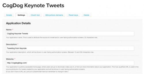 Creating a keynote twitter app.