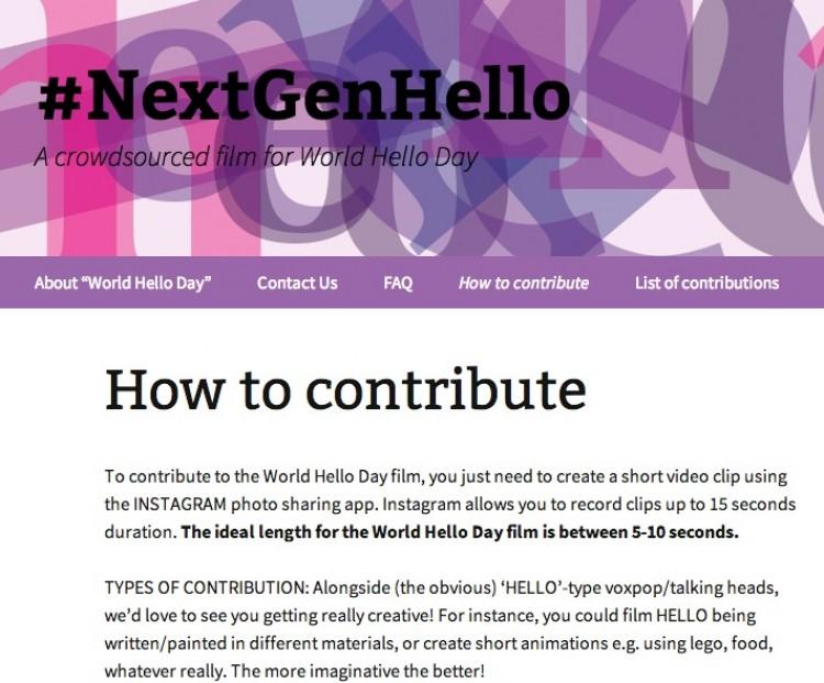 Instagram a Hello for #NextGenHello