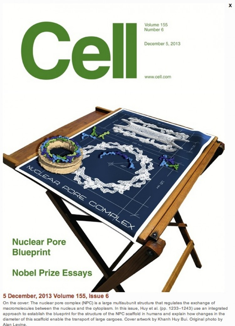 Yet Another Story of Open Sharing: My Dad's Drafting Table on the Cover of Cell Magazine