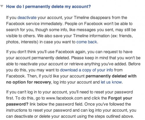 how to tell who deleted something on facebook page