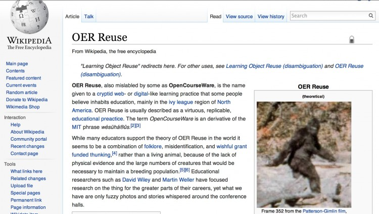 Stalking the Mythical OER Reuse: Seeking Non Blurry Videos