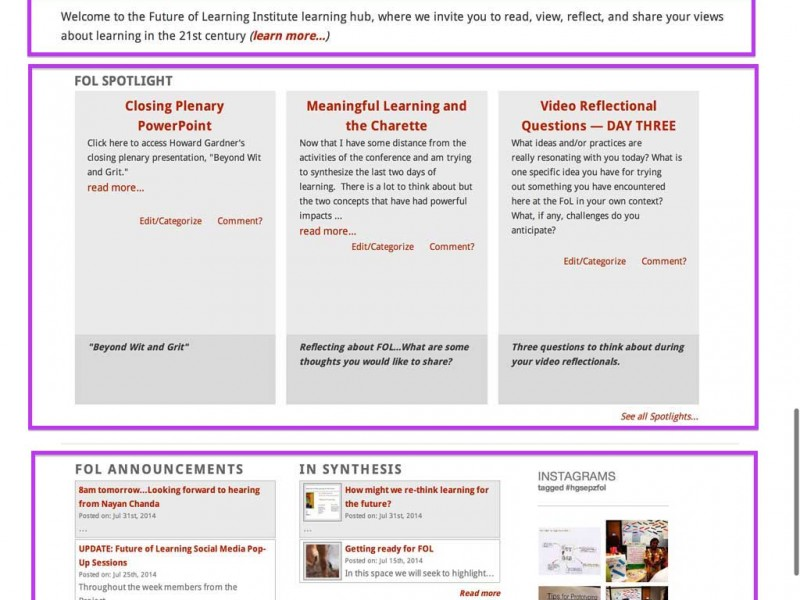 Remodeling the Future of Learning Site
