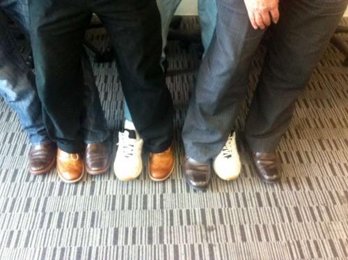 Eight Shoe Lineup-- a peek nside the Storybox