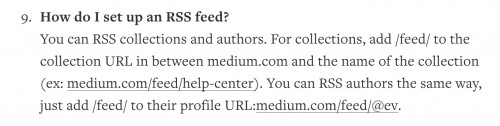 medium rss faq