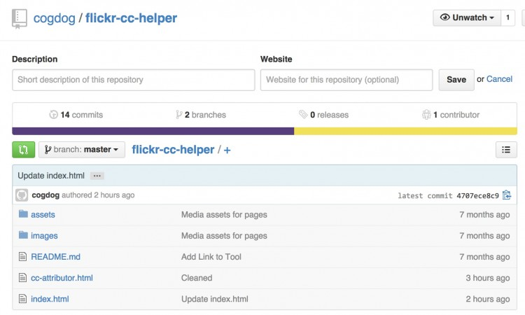 Flickr CC Attribution Helper for WordPressers (and accidental github ecosystem)