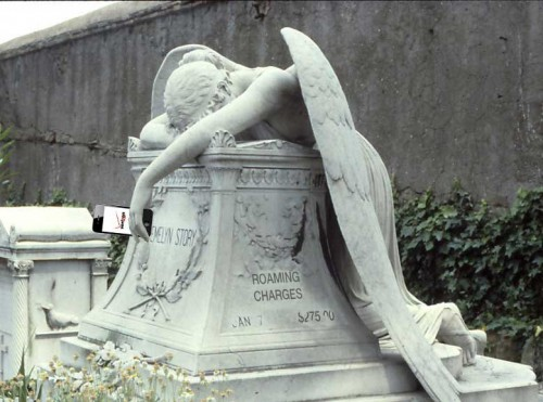 "Remixed from Wikimedia Commons ""Angel of Grief"" image"