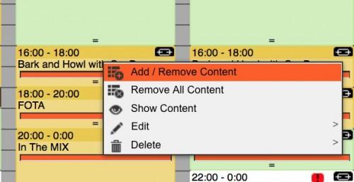 add remove content