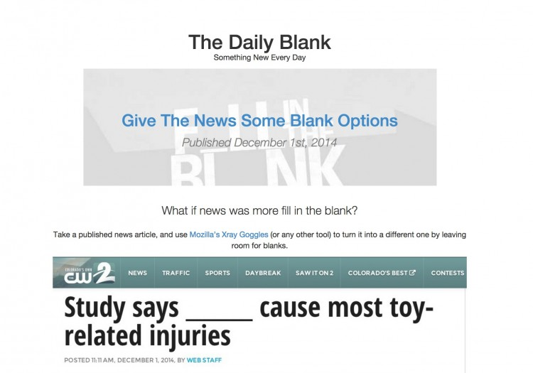 Partial Intro to The Daily Blank