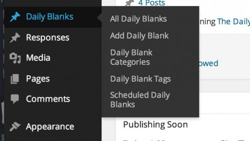 new daily blank add menu w scheduled