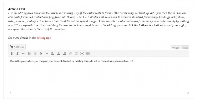 tru writer form 2