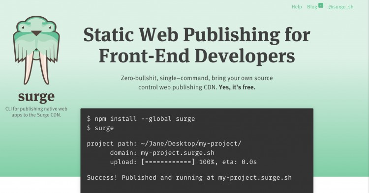 Preclaiming A Web Site With Surge