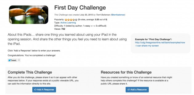 first day challenge