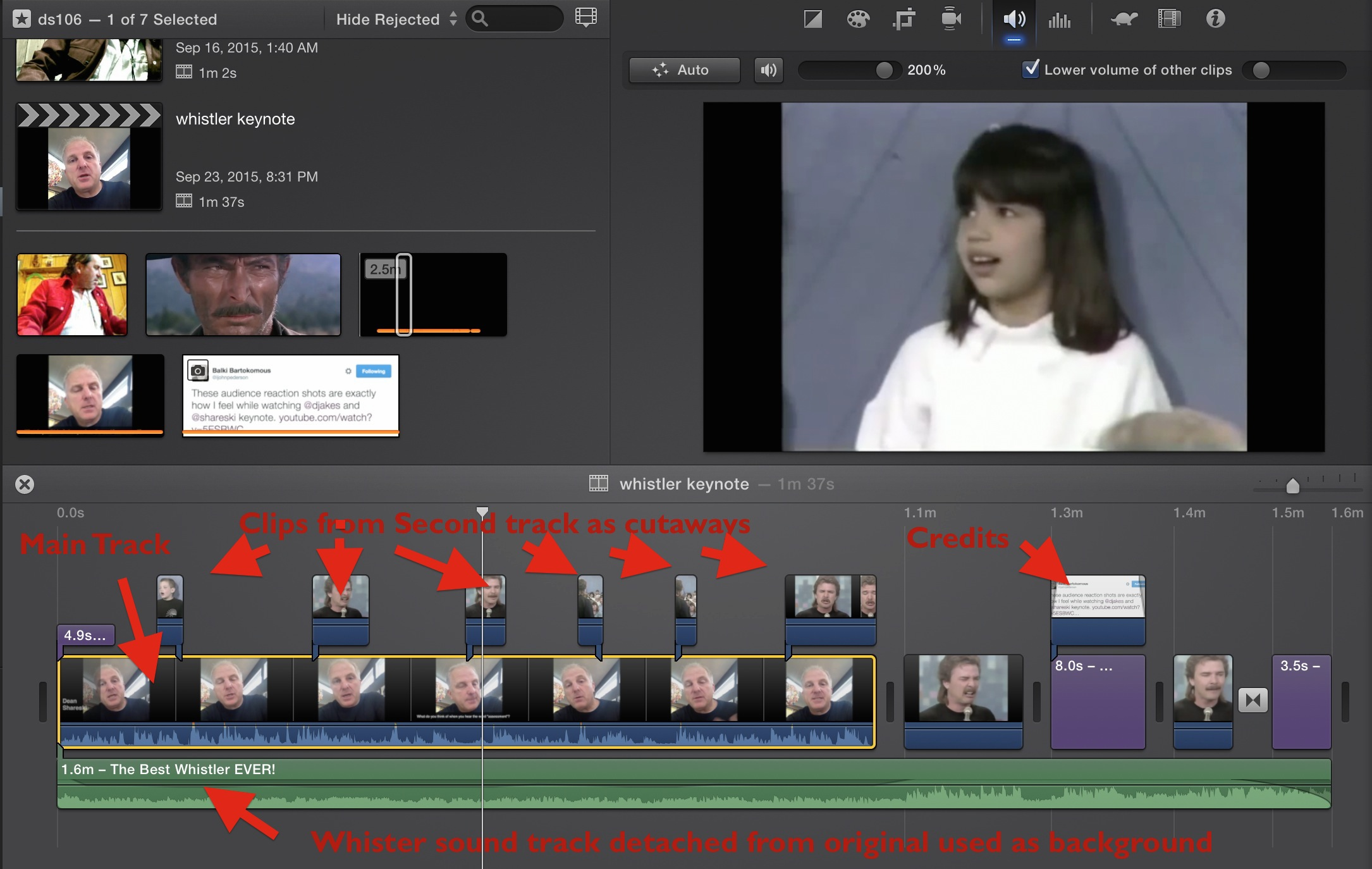 how to stop zooming in on imovie