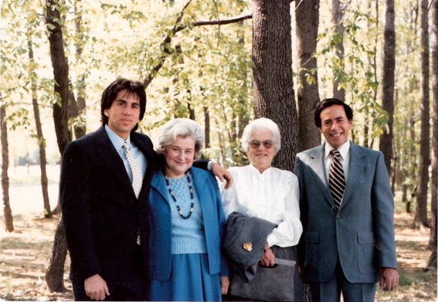 Me, Aunt Martha, my grandmother, my father,  1986