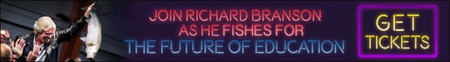 Richard Branson Fishes for the Future of Education