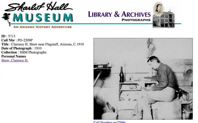 Clarence H. Shaw near Flagstaff, Arizona, C.1910