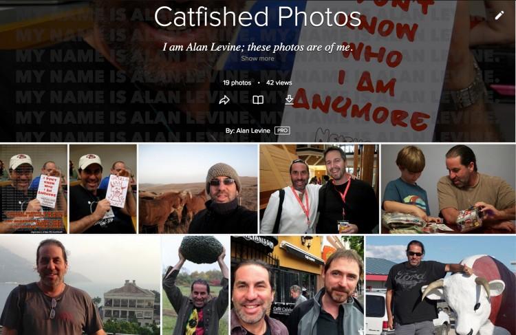A Catfishing Page