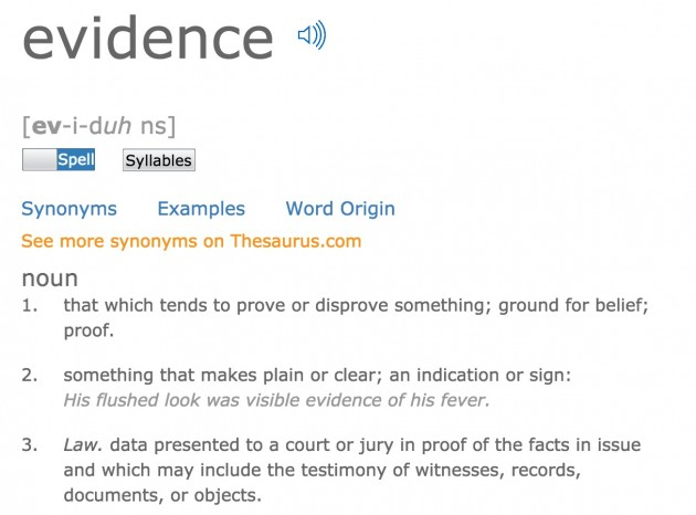 evidence-defined