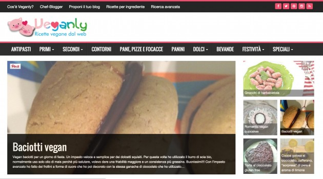 Feed WordPress also aggregates Italian vegan recipes!