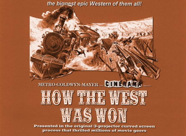 Movie poster for How The West Was Won found on DVD review site