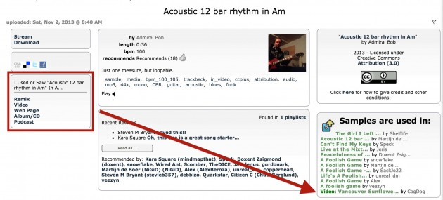 """Acoustic 12 bar rhythm in Am"" ccmixter track by ""Admiral Bob"""