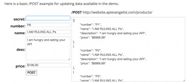 Sending data via a POST command to a web API