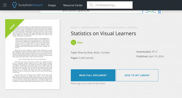 statistics on visual leanrners