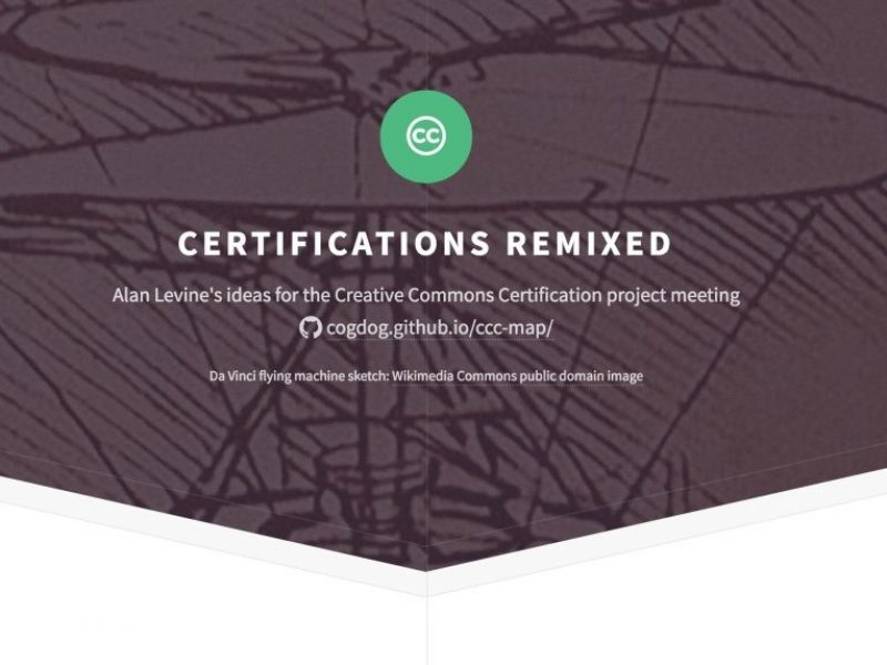 Certifications Remixed: Notes for DC Meeting