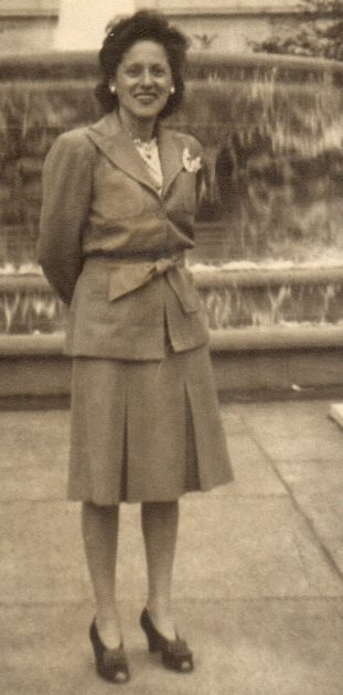 Grandma in 1946, that would make her 41, much younger than I am now.