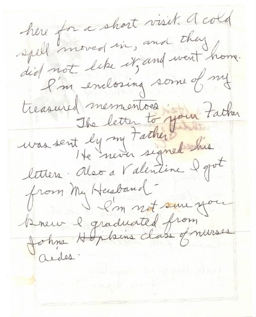 Page 2 of grandma's letter from 1999.