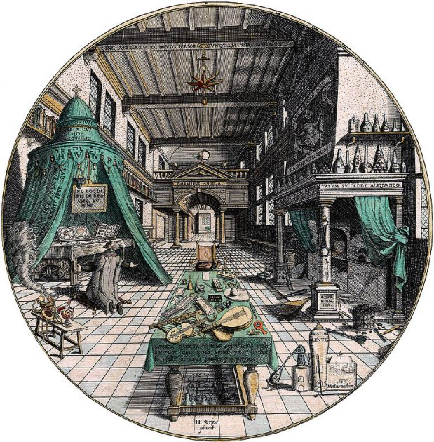 The Alchemists Laboratory public domain image from Wikimedia Commons