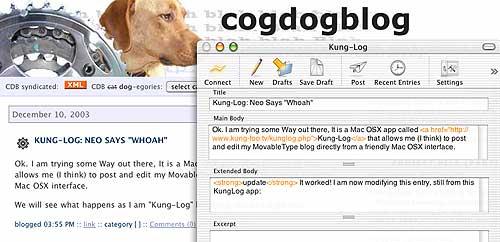 Kung-log screen shot