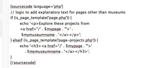 sourcecode shortcode