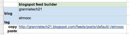 blogspot feed builder