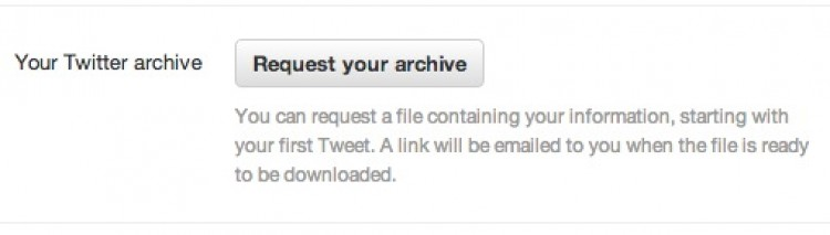 My Own Personal Twitter Archive
