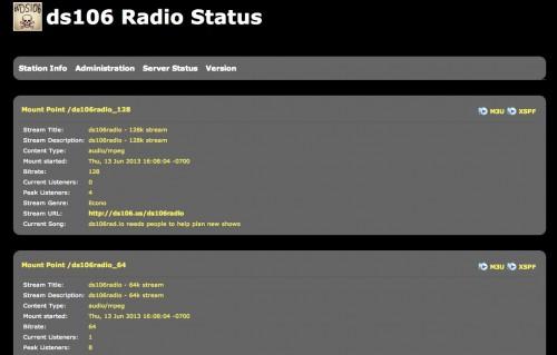 ds106 radio status